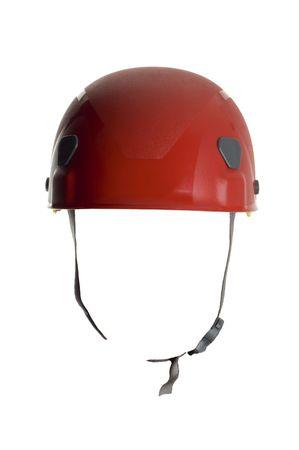 casco rojo: casco rojo cerca disparar en blanco