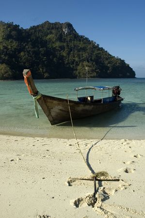 fishing boat on the beach in thailand Stock Photo - 739104