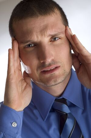 young business men in stress close up Stock Photo - 810481