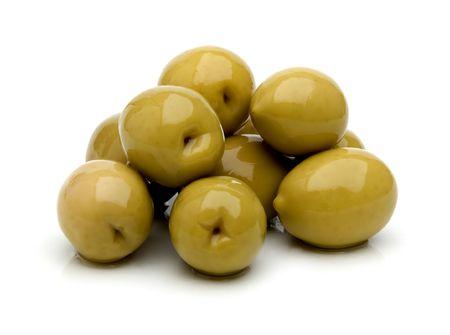 olive fruit close up on white background photo