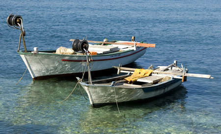 croatia: two fishing boats in croatia close up shoot