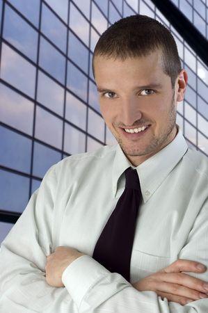 young business men smiling portrait close up Stock Photo - 969823