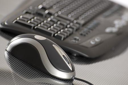 paypal: computer keyboard and mouse close up shoot