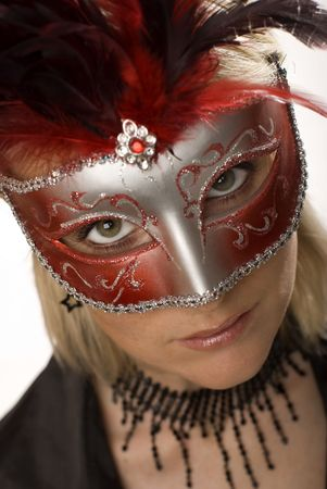 beautiful woman with carnival  mask close up Stock Photo - 2242451