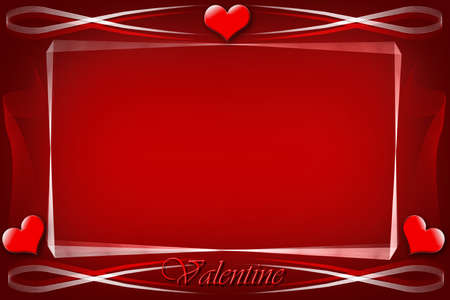 flirting:  background with red hearts for valentine