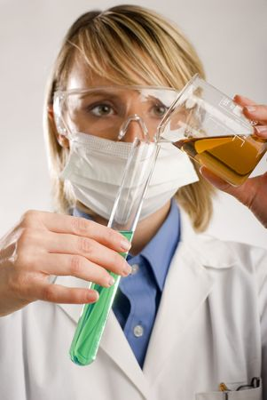young women working in medicine close up shoot photo