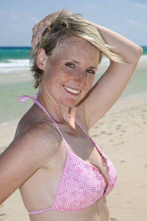 portrait shot of beautiful woman on the beach Stock Photo - 2816608