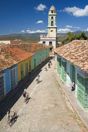 famous church aerial shoot in trinidad - cuba photo