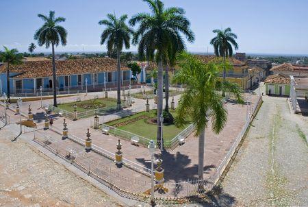 main plaza in trinidad city - cuba photo