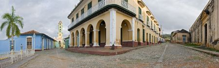 wide panoramic shoot  of colonial town trinidad - cuba photo