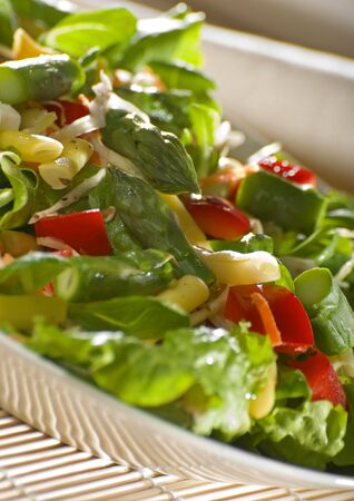 fresh colorful salad with asparagus close up shoot Stock Photo - 2990385