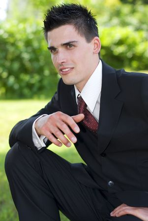 young handsome business men close up portrait Stock Photo - 3125584