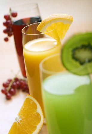 orange juice in focus close up shoot