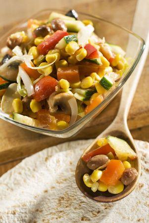 fresh tortilla vegetable filling close up shoot photo