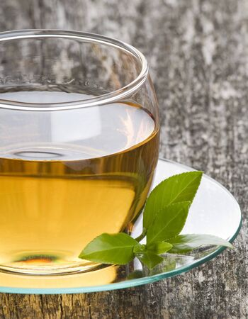 Cup of green tea close up shoot Stock Photo - 4441278