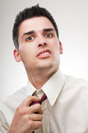 young unhappy business man close up portrait Stock Photo - 4634816