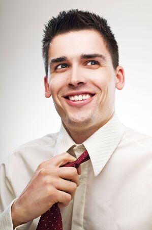 young happy business man portrait close up Stock Photo - 4634822