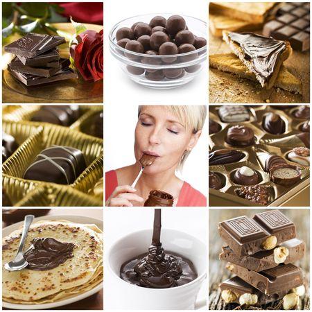 chocolate melt: Bellissimo collage cioccolato da nove foto
