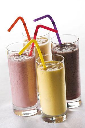 daiquiri alcohol: Fresh mixed fruit smoothies close up shoot