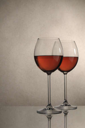 Two glasses of red wine close up Image  photo