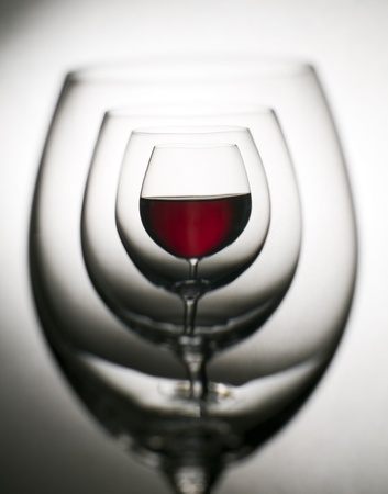 Glass of red wine close up abstract shoot