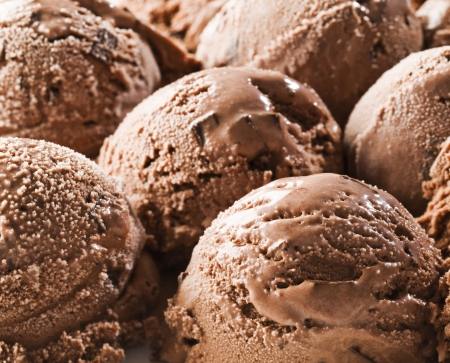 Chocolate ice cream background close up shoot