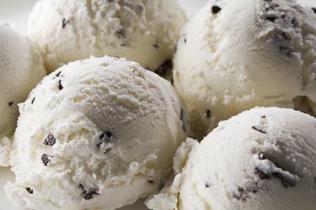 Stracciatella ice cream background close up shoot