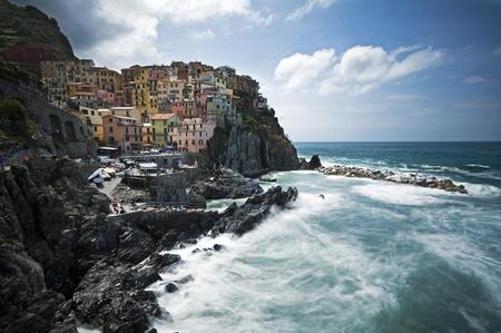 Ancient village Manarola, Cinque Terre, Italy photo
