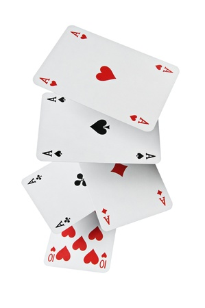 Close up of falling poker playing cards Stock Photo - 11413583