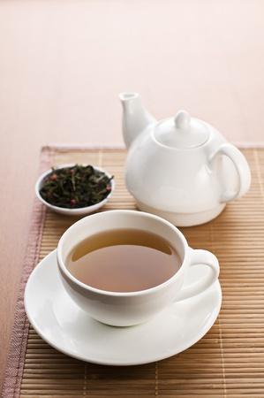 tea crop: Cup of hot tea close up shoot