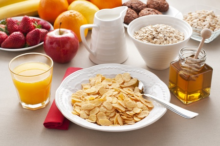 Healthy breakfast on the table close up Stock Photo - 12949327