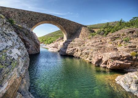 ponte: Ponte Vecchiu bridge over the Fango River, Corsica