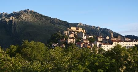 separatist: View of Corte, Corsica - France