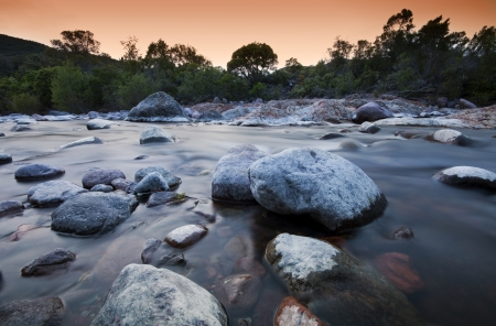 torrent: Fango river in west Corsica - France Stock Photo