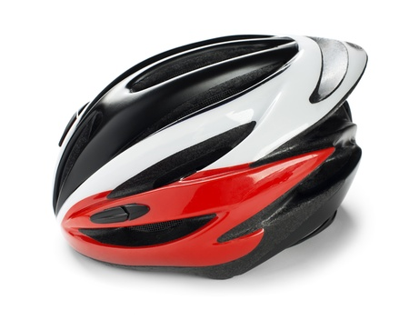 Isolated Cycling Helmet on a white background photo
