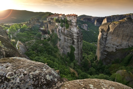 kalampaka: The Meteora complex in Greece - The Varlaam monastery
