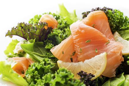 salmon ahumado: Ensalada - Salmón ahumado con vegetales