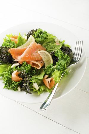 cebollin: Ensalada - Salmón ahumado con vegetales