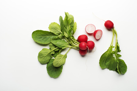 fresh vegetable: Fresh red radish isolated on a white background close up.