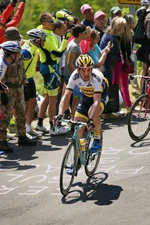 jumbo: MONTEMAGGIORE, Italy - may, 20. 2016: TJALLINGII  Maarten - LOTTO NL - JUMBO, during Giro di Italia 2016, 13st stage, 170km