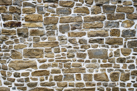 construction materials: Background texture of stone wall close up Stock Photo