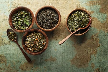 Spices and herbs collection for cooking healthy meal Stockfoto