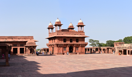 The Diwan-i-Khas Hall of Private Audience in Fatehpur Sikri, Agra, India