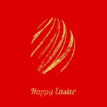 smoothed: Vector illustration abstract background, easter golden egg