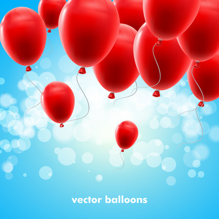 happybirthday: Vector illustration of red balloons