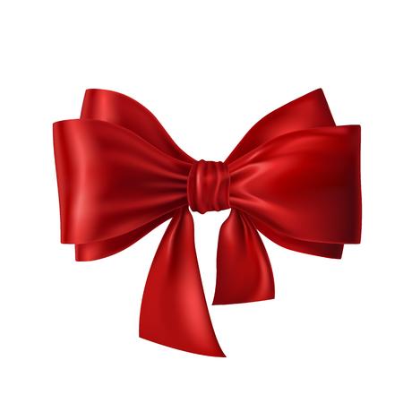 Red Band mit Schleife auf weißen Hintergrund. Vektorgrafik