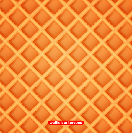 Vector illustration sweet waffle background. The texture wafer