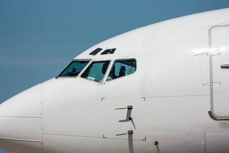 Нос самолета крупным планом Фото со стока