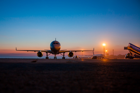 Early morning airport apron Фото со стока - 67033396