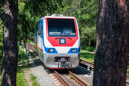 Узкоколейный локомотив в городском парке